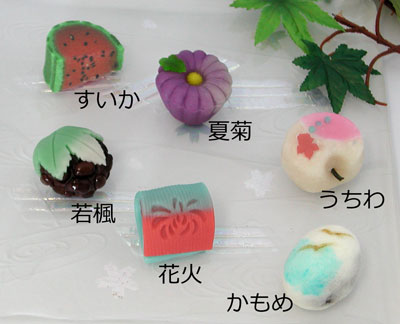 2012年8月の上生菓子