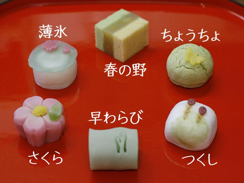 2013年春の上生菓子