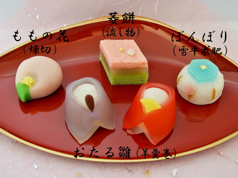 2014年おひな様上生菓子
