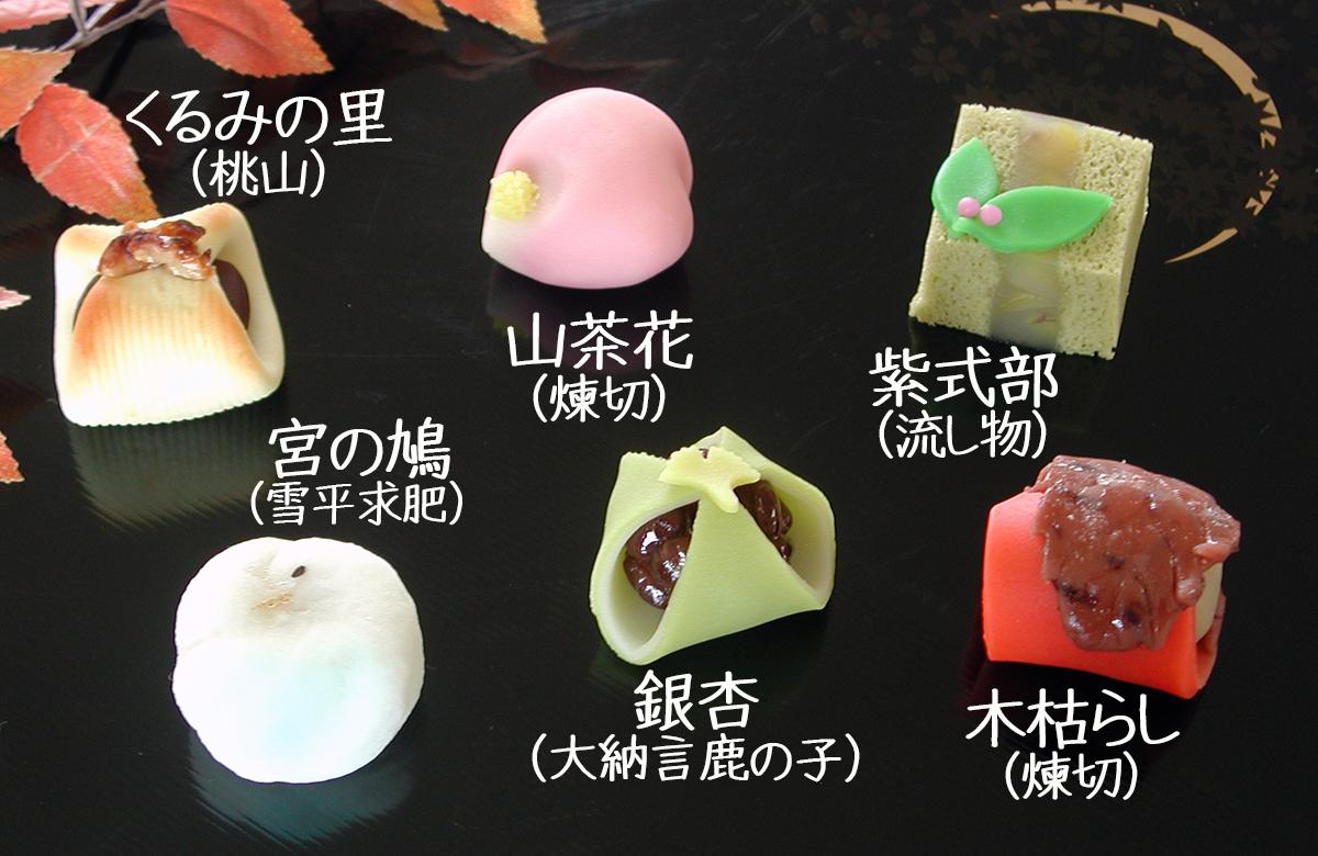 2014年11月の上生菓子