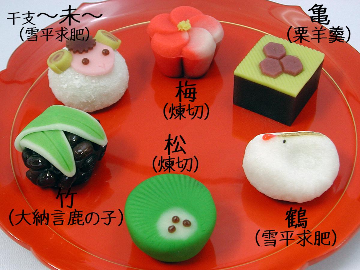 2015年1月の上生菓子