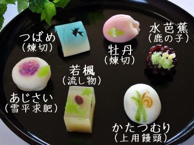2015年6月の上生菓子