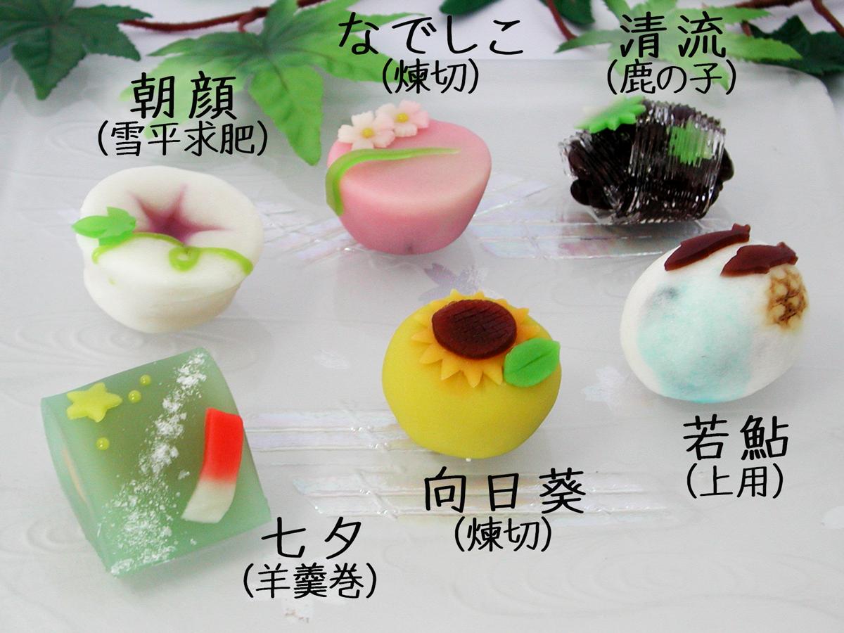 2015年7月の上生菓子