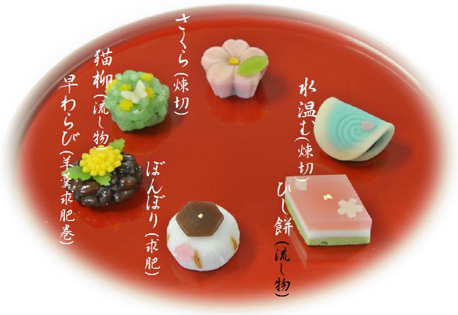 2016年3月の上生菓子
